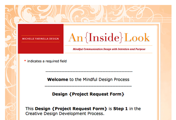 M Farinella Design Project Request – Project Request Form